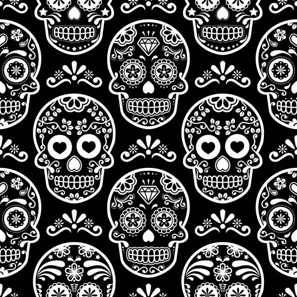 Royalty Free Sugar Skull Clip Art Vector Images Illustrations