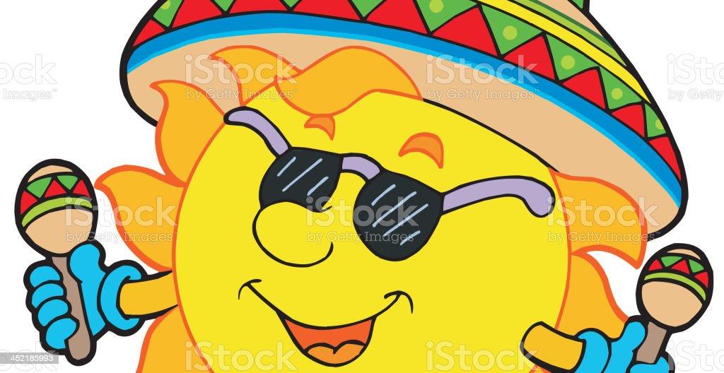 Mexican sun royalty-free stock vector art