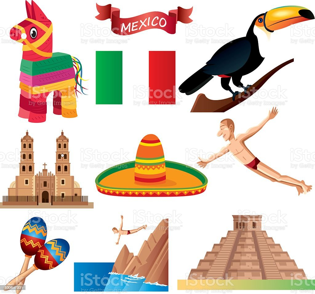 Mexican Symbols Stock Vector Art More Images Of 2015 530647331