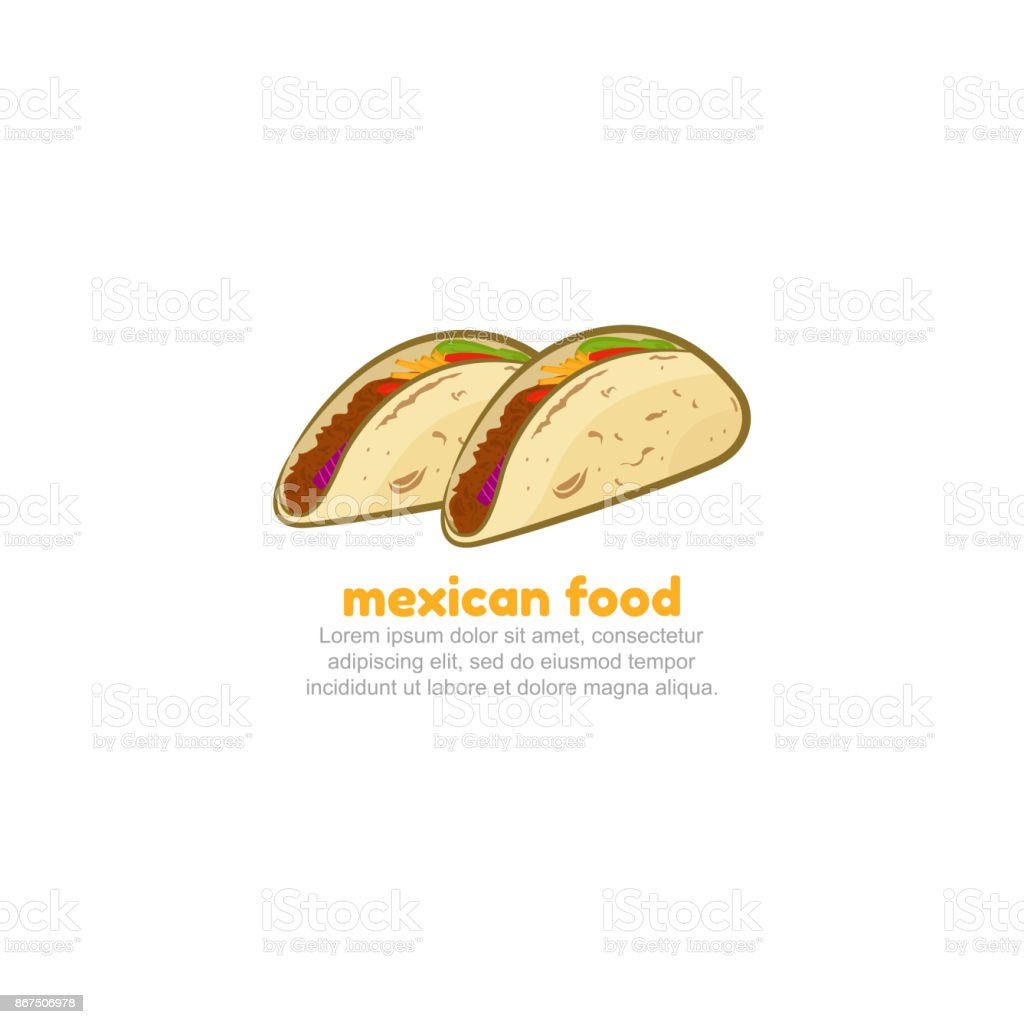 mexican tacos logo template stock vector art more images of badge