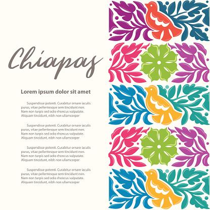 Mexican Textile Pattern Composition - Copy Space
