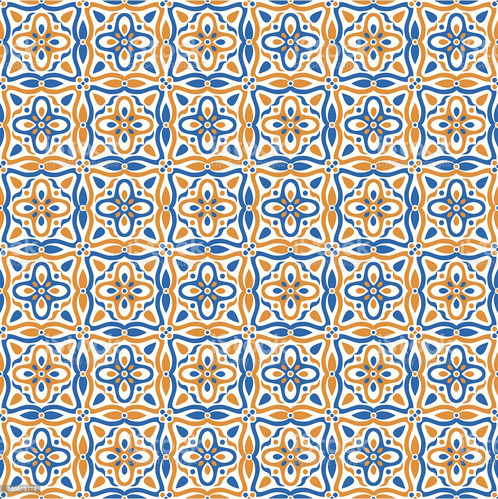 Mexican Tile Pattern royalty-free stock vector art
