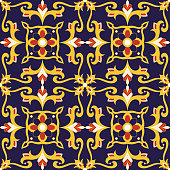 Mexican tile pattern vector seamless