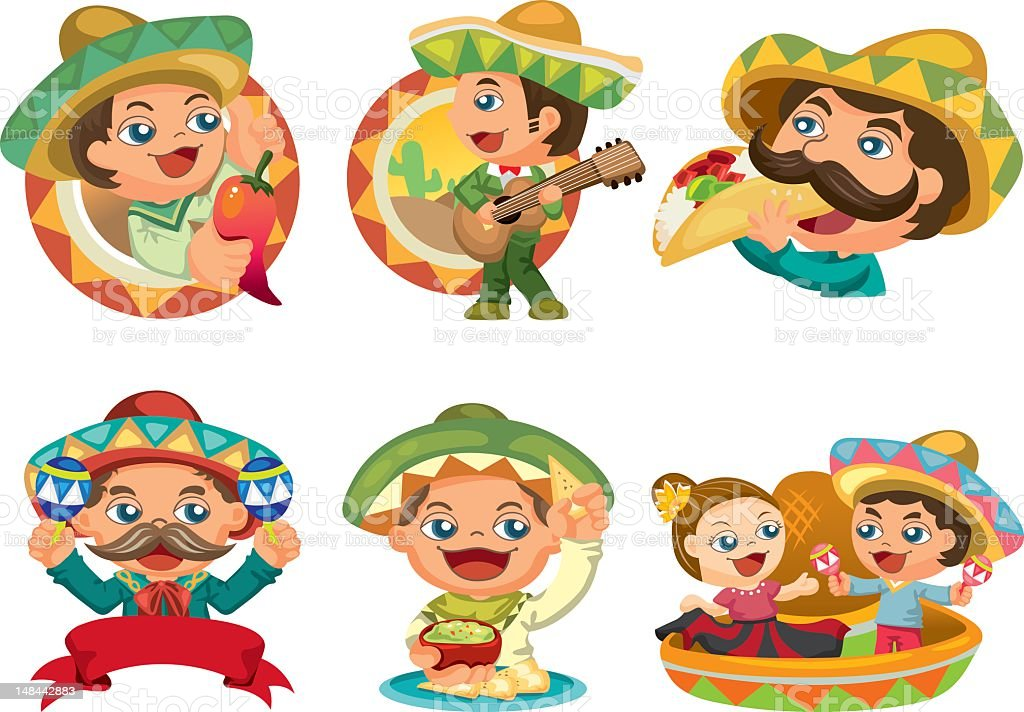Mexican vector art illustration