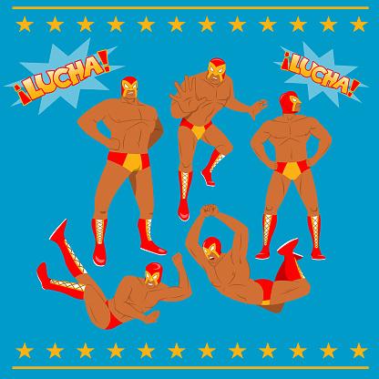 Mexican Wrestler Lucha Libre Pack