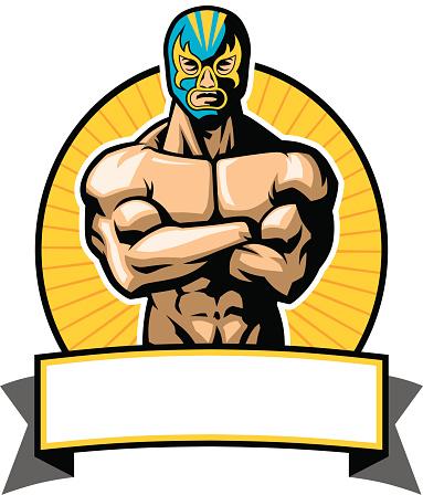 mexican wrestler pose