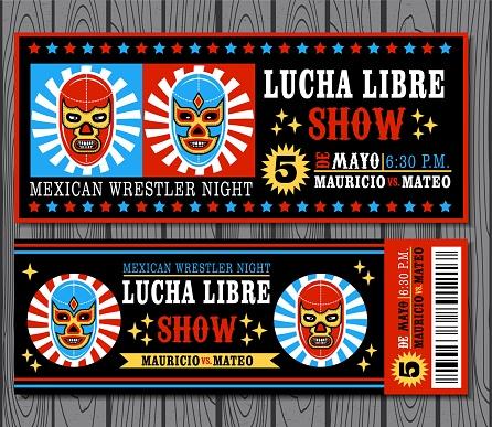 Mexican wrestler set. Lucha Libre