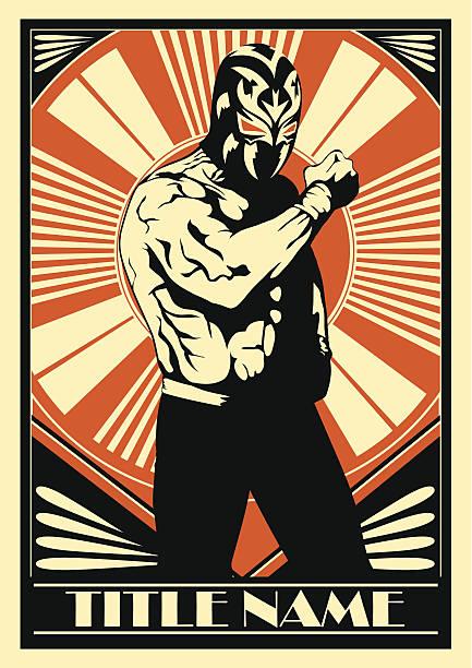 mexican wrestler - wrestling stock illustrations, clip art, cartoons, & icons