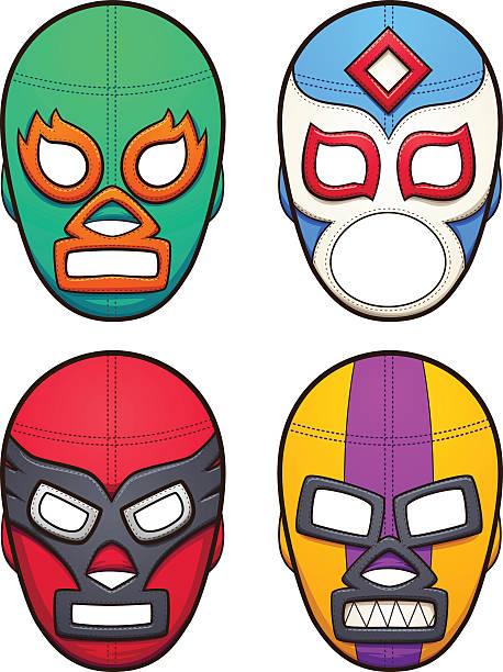Masques de Catch mexicain - Illustration vectorielle