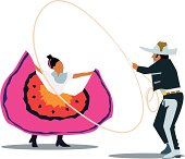 Mexican dancers, autentic dance of mexico and charro