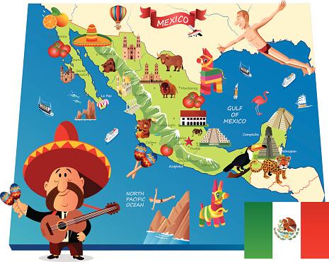 Mexico Cartoon map
