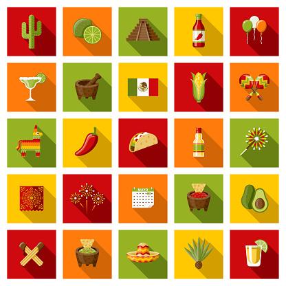 Mexico Cinco de Mayo Icon Set