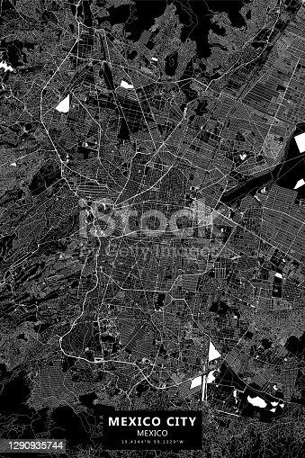 Ciudad de México, Mapa vectorial de México