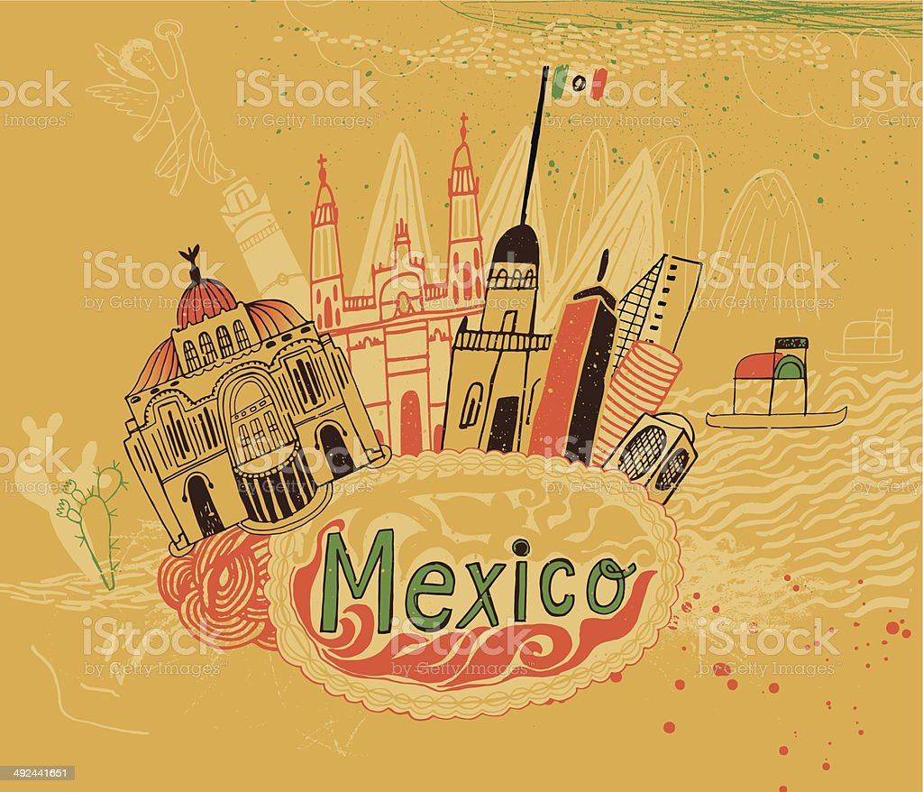 Mexico City, South America royalty-free stock vector art