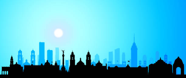 Mexico City (All Buildings Are Complete and Moveable) vector art illustration