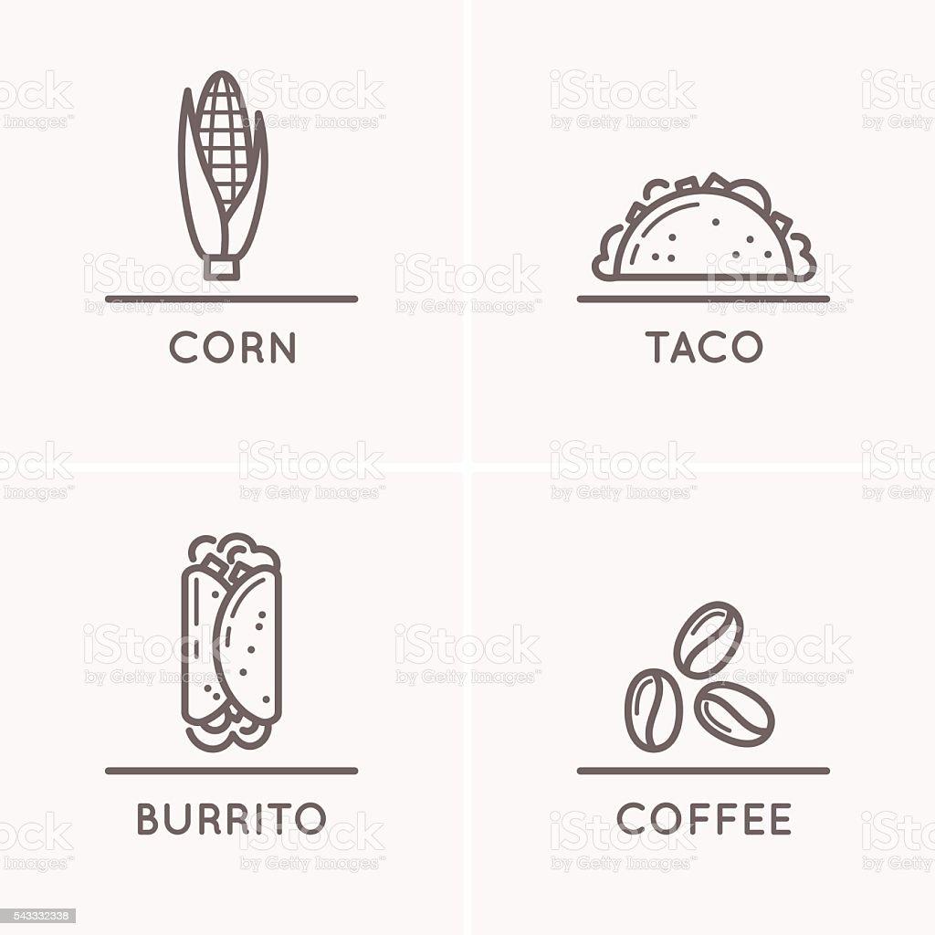Cultura de México - ilustración de arte vectorial