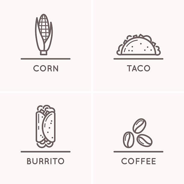 mexico culture set - mexican food stock illustrations, clip art, cartoons, & icons