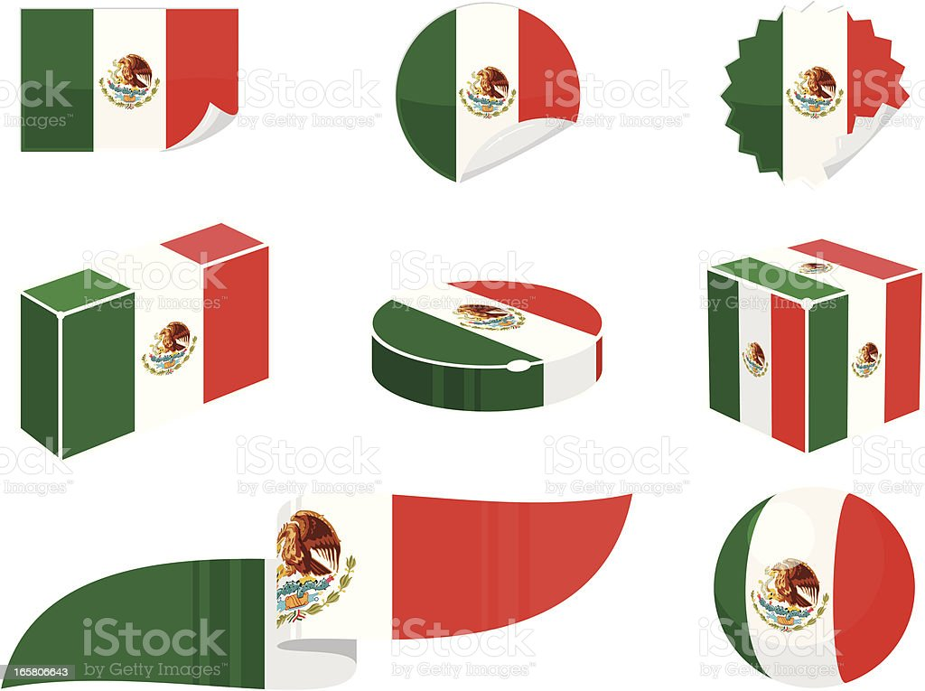 Mexico Design Elements vector art illustration