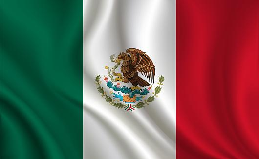 Mexico flag background