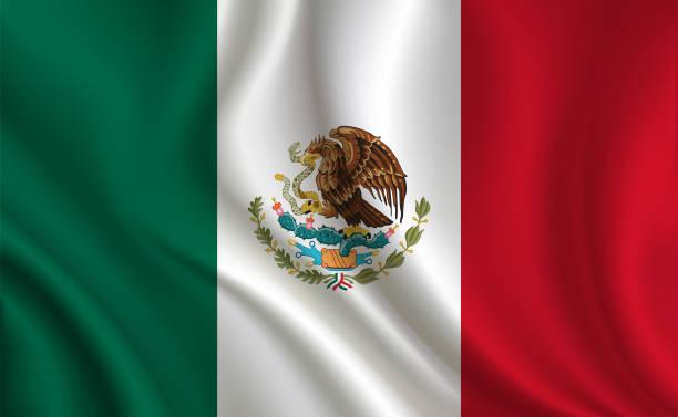 Fundo de bandeira do México - ilustração de arte em vetor