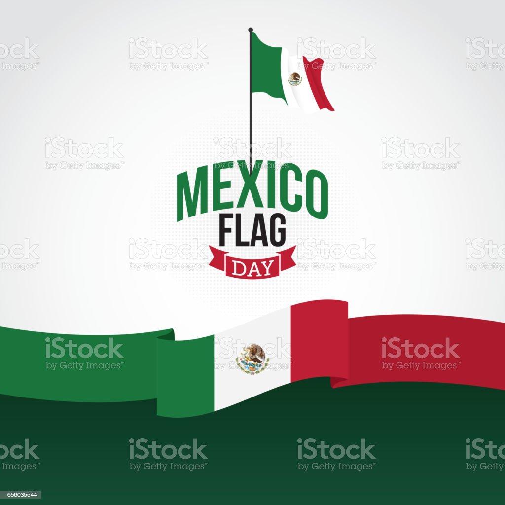 Ilustração em vetor México dia da bandeira - ilustração de arte em vetor