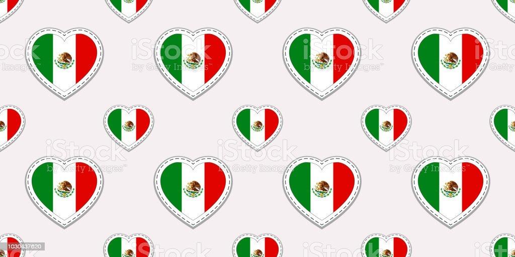 Ilustración de Patrón Sin Fisuras De La Bandera De México Vector ...
