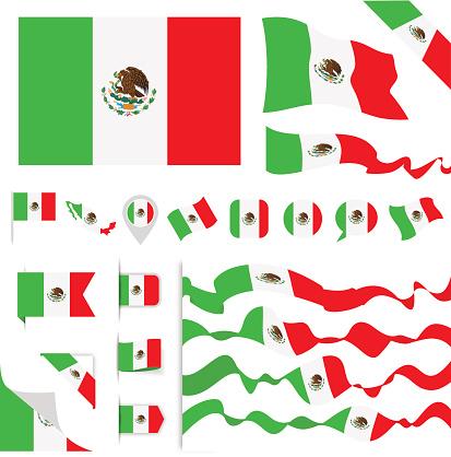 Mexico Flag Set