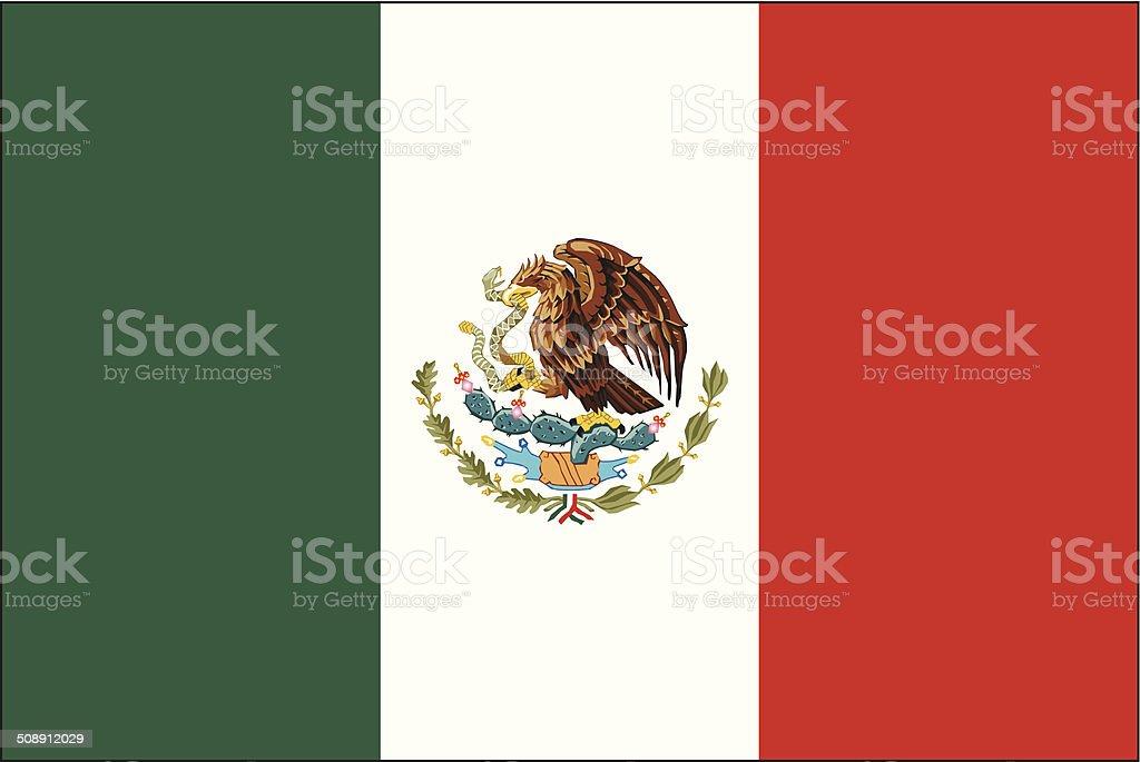 メキシコの旗 ベクターアートイラスト