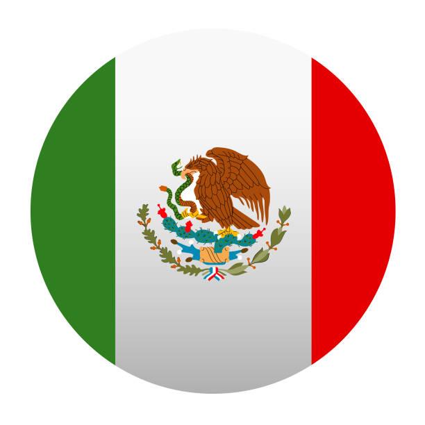 Mexico flag vector art illustration