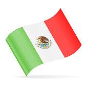 Mexico Flag Vector Waving Icon