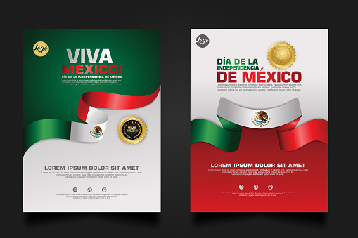Mexico happy Independence Day background template