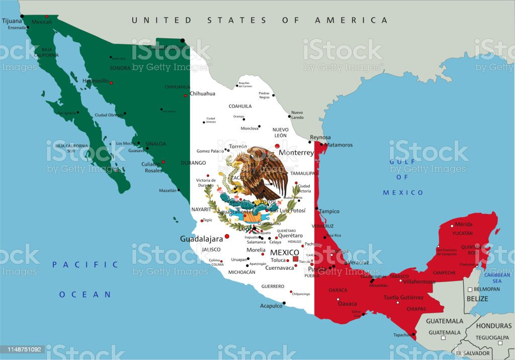 Picture of: Mexico Highly Detailed Political Map With National Flag Stock Illustration Download Image Now Istock