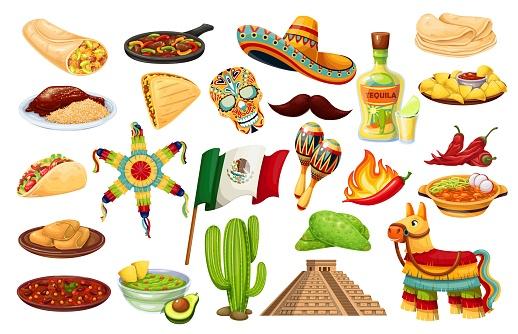 Mexico icons carnival Cinco de Mayo