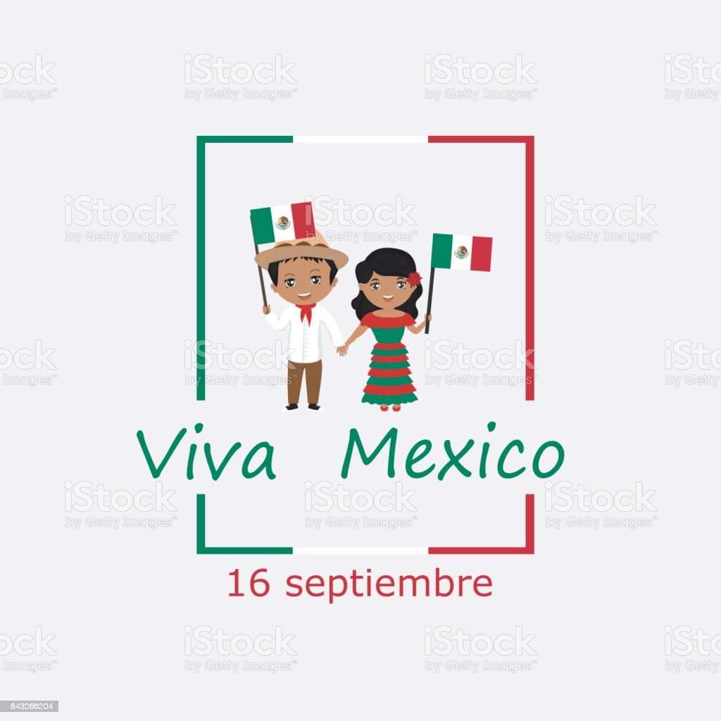 Mexico independence day greetings card kids logo modern design in mexico independence day greetings card kids logo modern design in the colors of the m4hsunfo