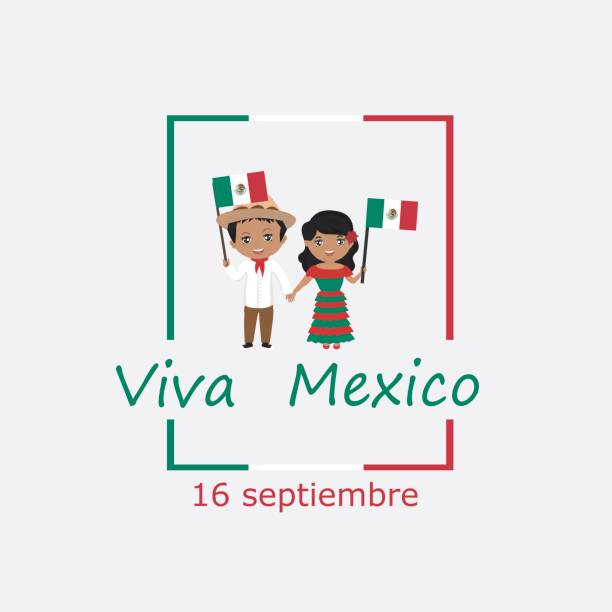 Royalty free child little boys mexico latin american and hispanic mexico independence day greetings card kids logo modern design in the colors of the m4hsunfo