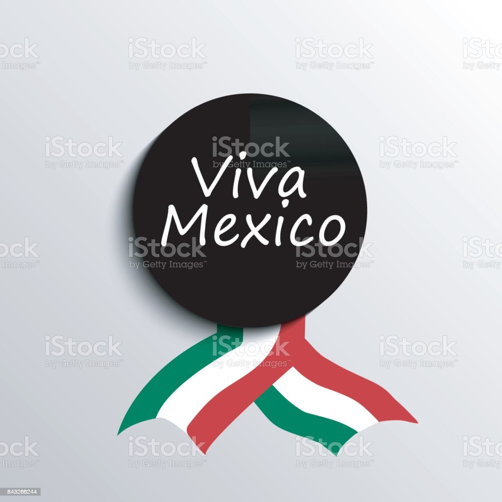 Mexico Independence Day greetings card. vector art illustration