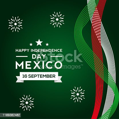 Mexico Independence Day Vector Design Template