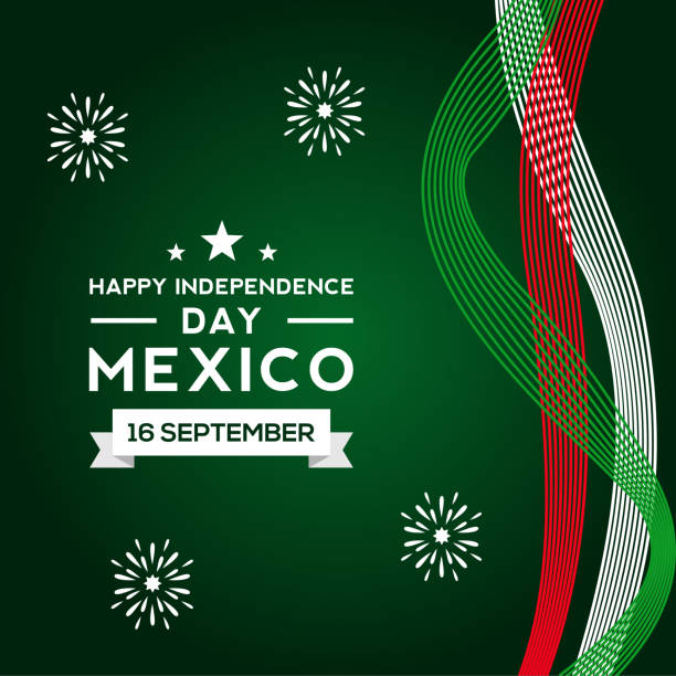 Mexico Independence Day Vector Design Template vector art illustration