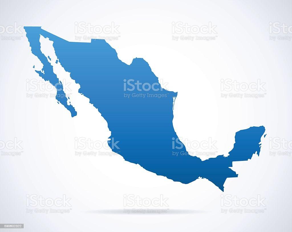 Mexico Map - Illustration - ilustración de arte vectorial