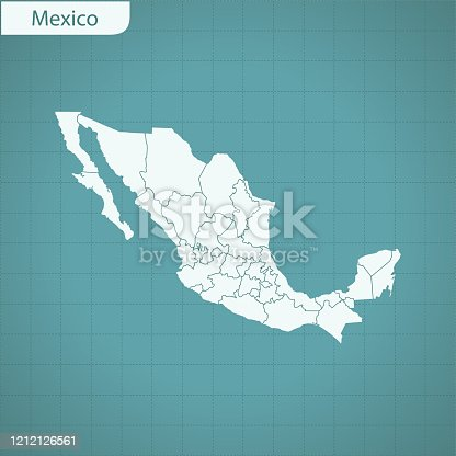 vector of Mexico map