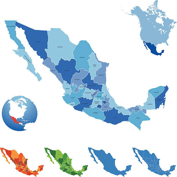 Mexico Map Highly detailed map of Mexico for your design and products. coahuila state stock illustrations