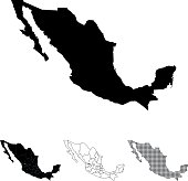 Highly detailed map of Mexico for your design and products.
