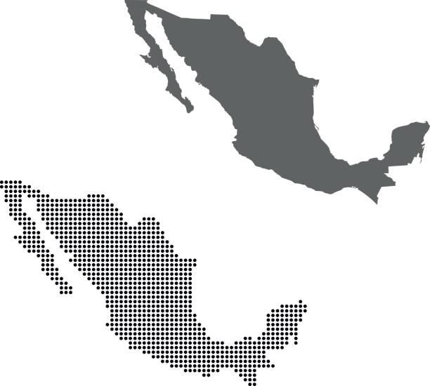 Mexico map – artystyczna grafika wektorowa