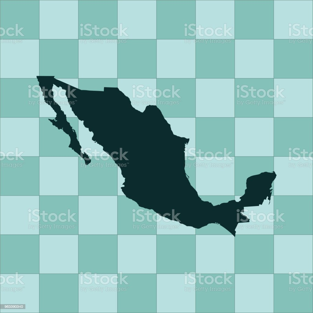 Mexico map - Grafika wektorowa royalty-free (Ameryka)