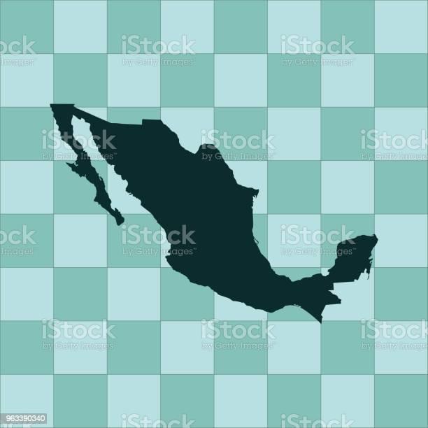 Mapa Meksyku - Stockowe grafiki wektorowe i więcej obrazów Ameryka
