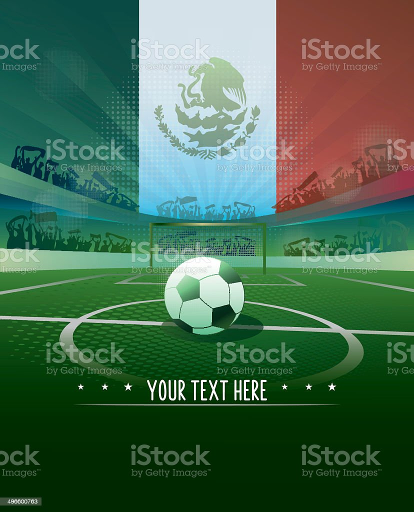 mexico soccer background vector art illustration