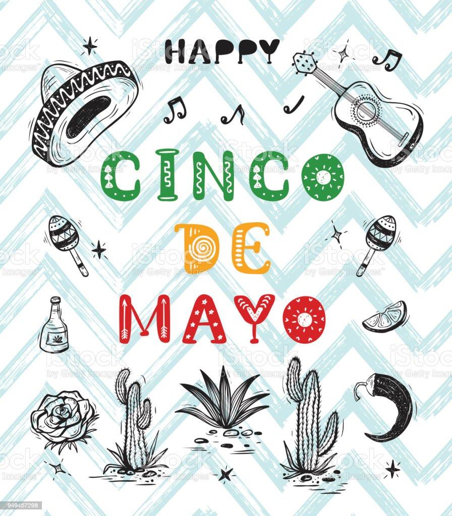 Mexico vector background. Happy Cinco ...