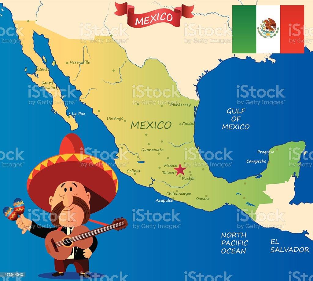 México - ilustración de arte vectorial