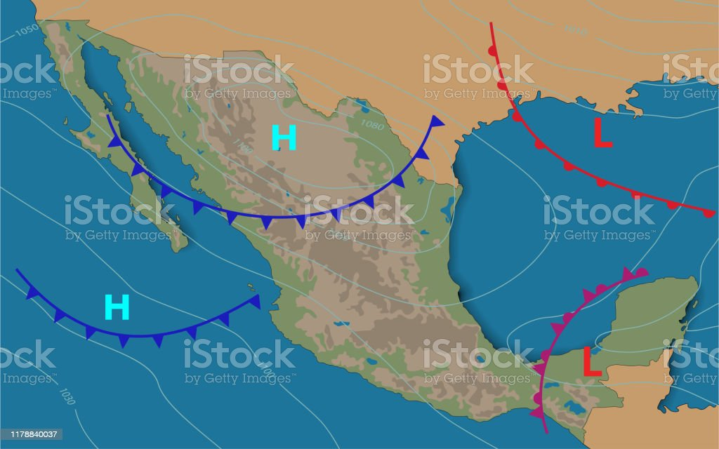 Mexico Weather Map Of The Mexico Meteorological Forecast ...
