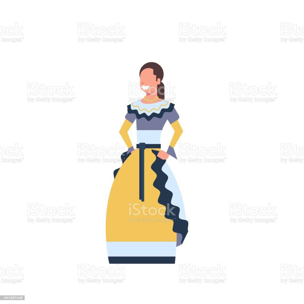 dd25ba69d Ilustración de Bailarina De Mujer México En Traje Tradicional ...